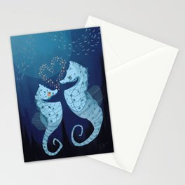 Seahorse Love Story Stationery Cards