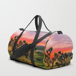 Sunset at Joshua Tree National Park, California, USA Duffle Bag