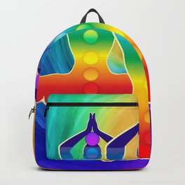 TRIPLE Om Meditation Mantra Chanting DESIGN Backpack