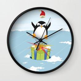 Angry penguin Wall Clock