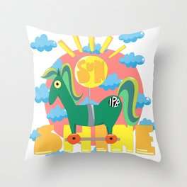 Sunshine! Throw Pillow