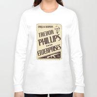 gta v Long Sleeve T-shirts featuring GTA Trevor Phillips Enterprises by Spyck