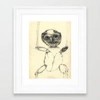 teddy bear Framed Art Prints featuring Teddy bear by Attila Hegedus