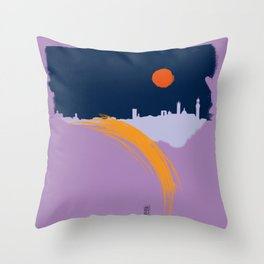 Siena skyline Throw Pillow