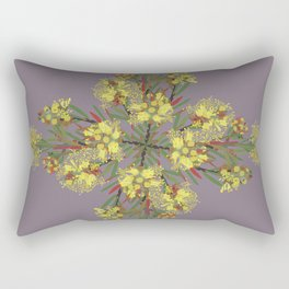 2941-Bottlebrush#1-P2-Grey Rectangular Pillow