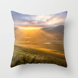 Dingle Ireland Conor Pass sunset Throw Pillow