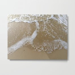 How to hold a wave upon the sand Metal Print
