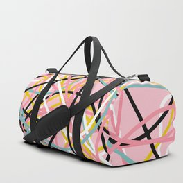 Colored Line Chaos #10 Duffle Bag