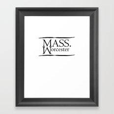Worcester Framed Art Print