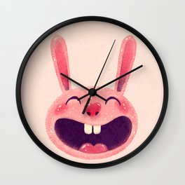 Bunny with love Wall Clock
