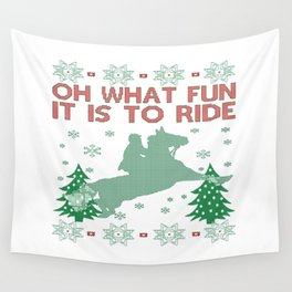 Riding Horse Christmas Wall Tapestry