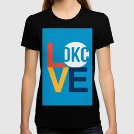 OKC Thunder LOVE Blue T-shirt