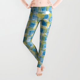 Blue & Green Pattern Leggings
