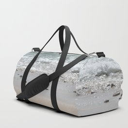 Seashore Sandpipers in tideland Duffle Bag
