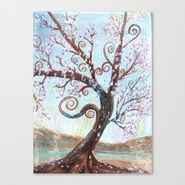 Watercolor Enchanted Tree Canvas Print