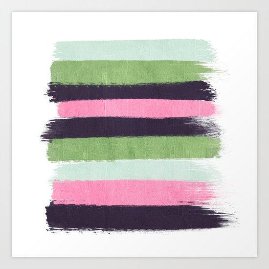Stripes minimal striped pattern basic nursery gender neutral decor Art Print