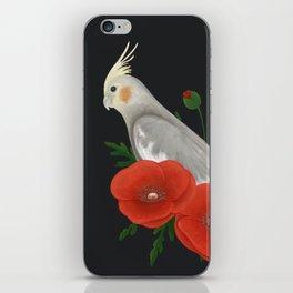 Light Grey/Cinnamon Cockatiel iPhone Skin