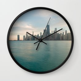 Tonight -Chicago Skyline Photography Wall Clock