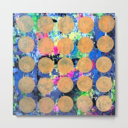 Bubble Wrap Abstract Pop Painting by Robert Erod HUGE COLORFUL ART Metal Print