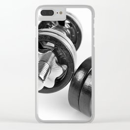 screwed hand barbells weights Clear iPhone Case
