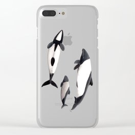 Commerson´s dolphins Clear iPhone Case