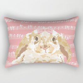 Bunny Composition (beige/pink) Rectangular Pillow