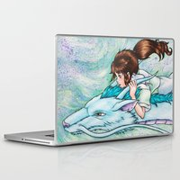 spirited away Laptop & iPad Skins featuring Spirited Away by Kimberly Castello