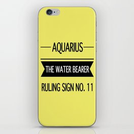 Aquarius the Water Bearer iPhone Skin
