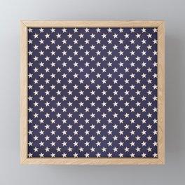 Navy Stars Framed Mini Art Print