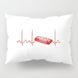HARMONICA HEARTBEAT Pillow Sham