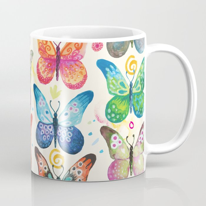 Colorful Erflies Coffee Mug By Camcreative Society6