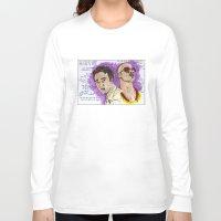 tyler durden Long Sleeve T-shirts featuring Tyler Durden - Ed Norton - Brad Pitt - Quotes by Matty723