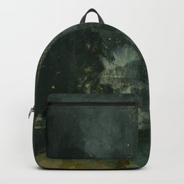 Nocturne In Black And Gold The Falling Rocket By James Mcneill Whistler   Reproduction Backpack