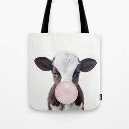 Bubble Gum Baby Cow Tote Bag