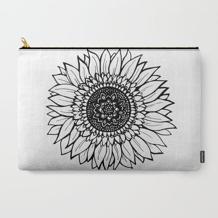 B&W_Sunflower_CarryAll_Pouch_by_Allison_Terkelsen__Large_125_x_85