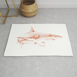 Shark Illustration - Pointillism Japanese-Inspired Art by Design by Cheyney Rug