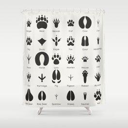 Common Animal Tracks Shower Curtain