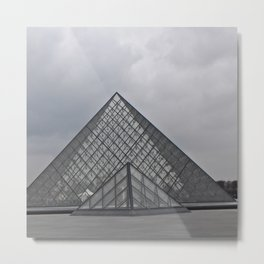 The Louvre Metal Print