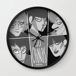 Las chinas Black and White Wall Clock