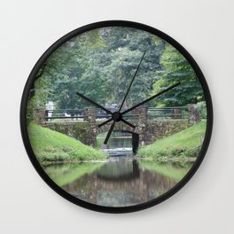 Bridge Reflection Wall Clock