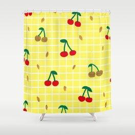 Cherries pattern Shower Curtain