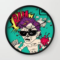 mom Wall Clocks featuring Mom! by Elsa Neves