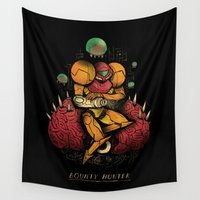 hunter Wall Tapestries featuring bounty hunter by Louis Roskosch