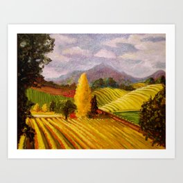 Rolling Vineyards Art Print