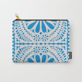 Fiesta de Flores in Party Blue Carry-All Pouch