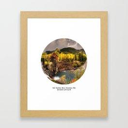 013: Crystal Mill, Colorado Framed Art Print