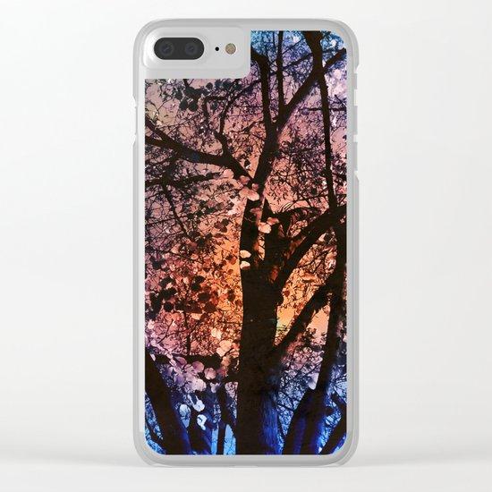 Autumn Sunset Clear iPhone Case