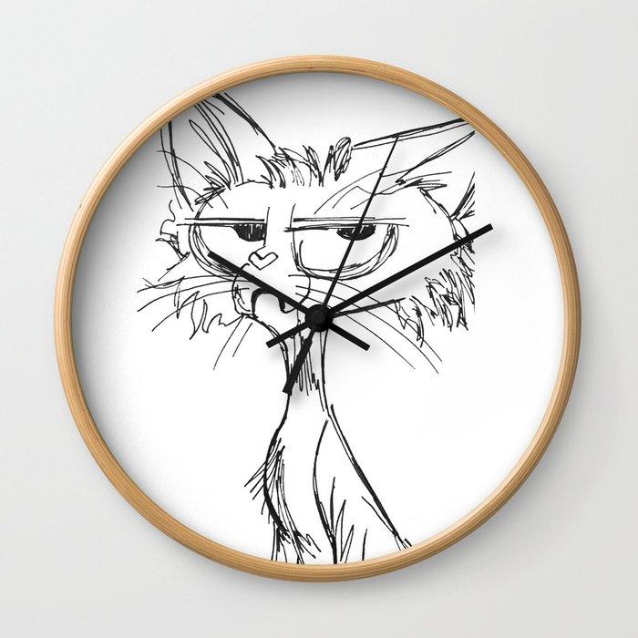 Cat-a-tude Wall Clock