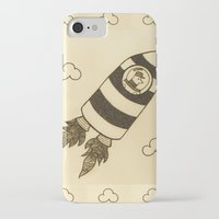 rocket iPhone & iPod Cases featuring rocket by Mariana Beldi