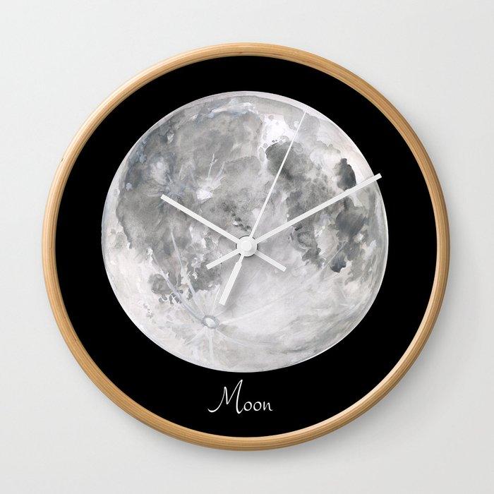 Moon #2 Wall Clock